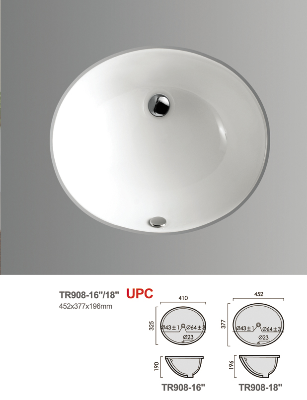 Under-counter basin